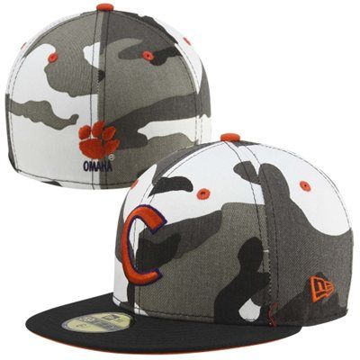 New Era Clemson Tigers Urban Camo 59FIFTY Fitted Hat - Black White ... 550e1b7a155