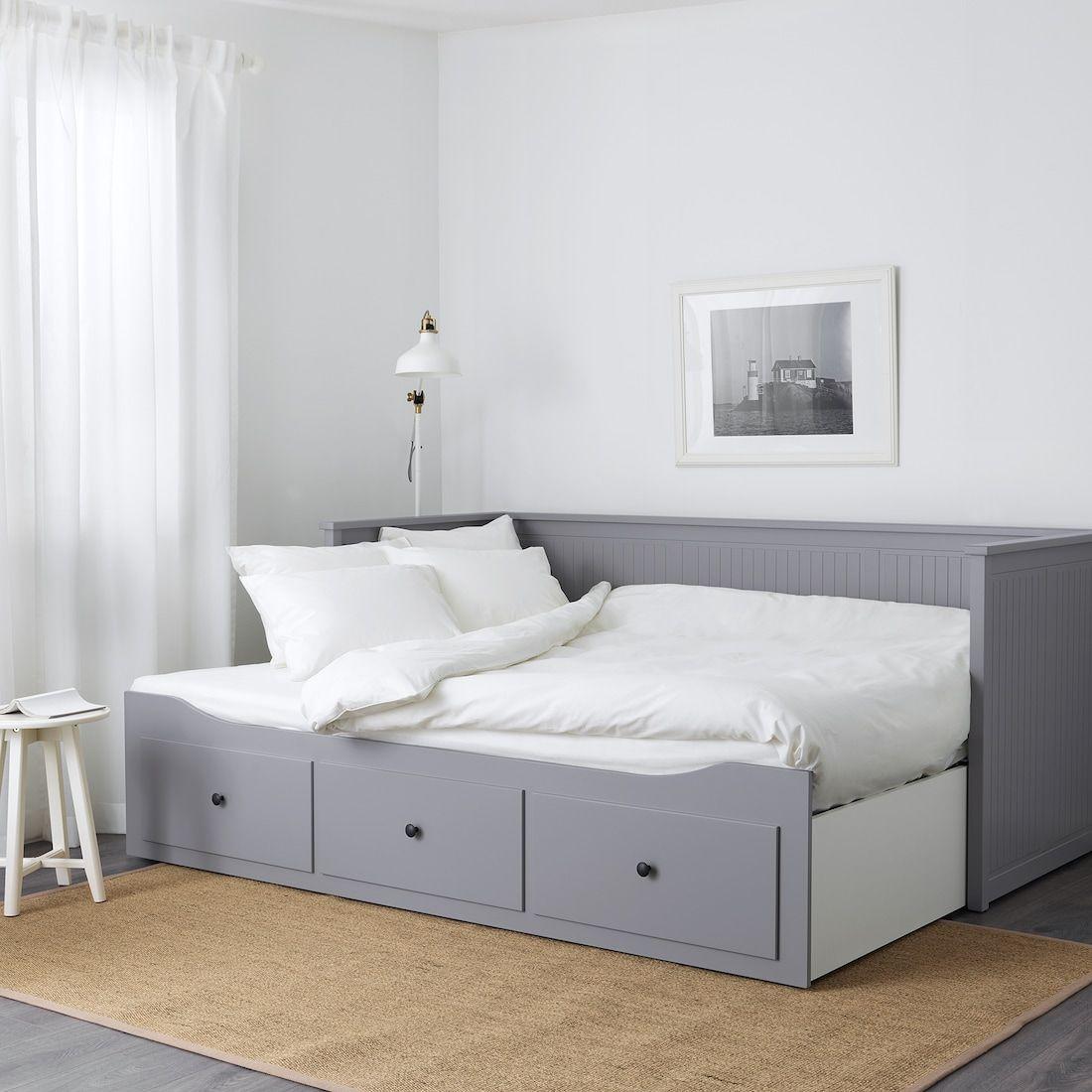 Hemnes Tagesbettgestell 3 Schubladen Grau Ikea Deutschland In 2020 Small Guest Bedroom Hemnes Day Bed Day Bed Frame