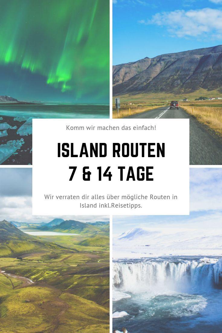 Routen in Island - Empfehlungen für 7 Tage & 14 Tage