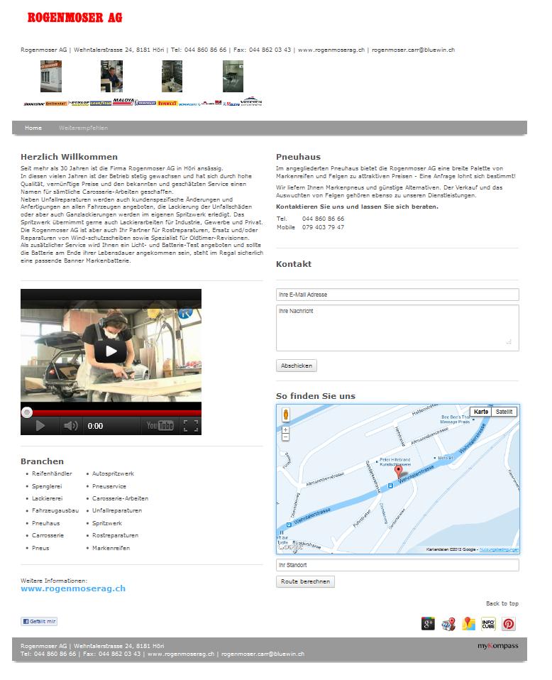 Reifenhändler, Spenglerei, Lackiererei, Fahrzeugausbau