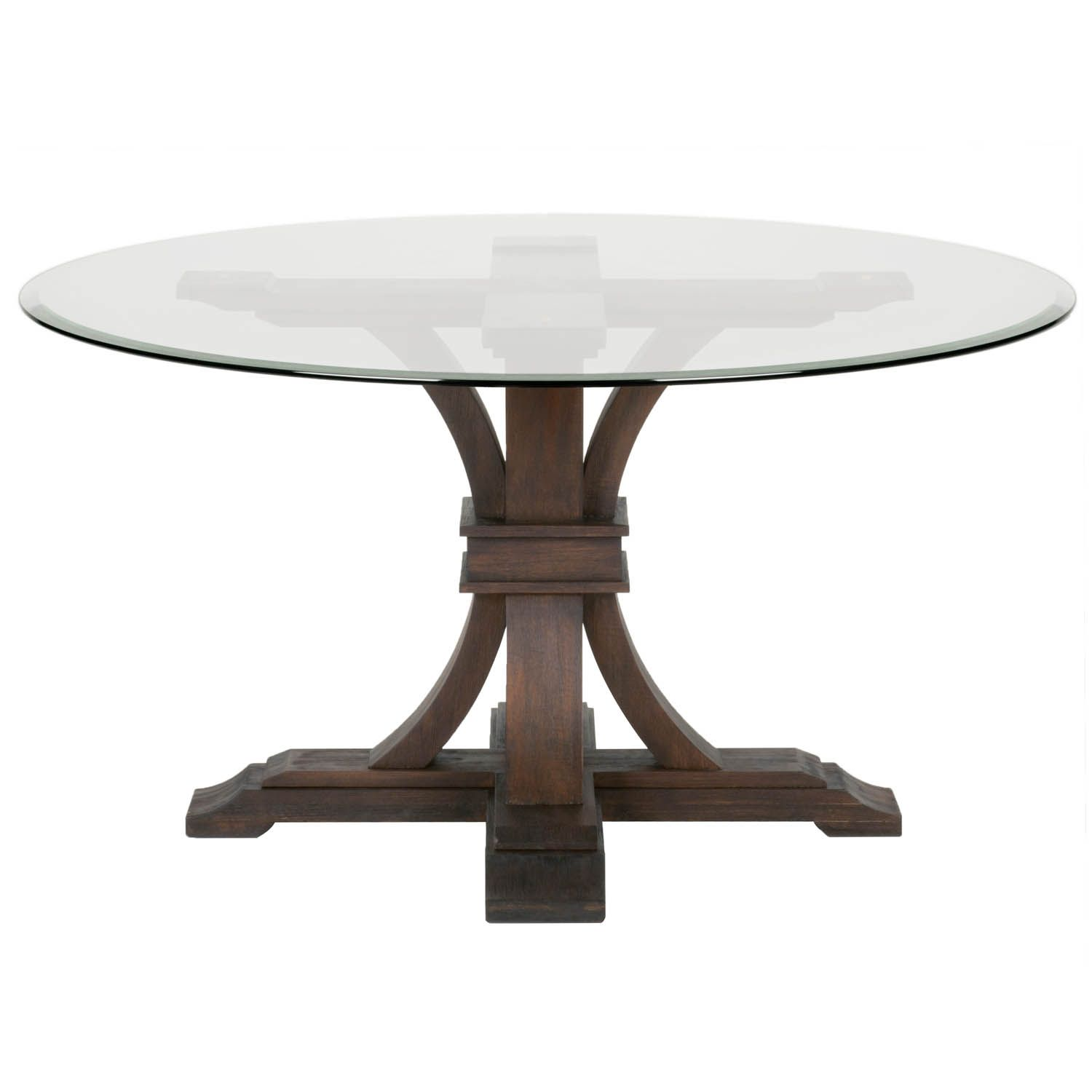Round Glass Dining Table A Modern Practical Option