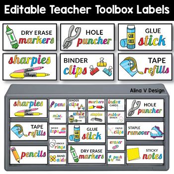 Teacher Toolbox Labels Editable Classroom Supply Labels With Pictures Teacher Toolbox Labels Classroom Supplies Labels Teacher Toolbox Labels Editable