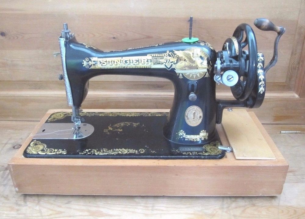 Antique Singer 40k Hand Crank Sewing Machine Sewing Pinterest Delectable Sun Hand Sewing Machine