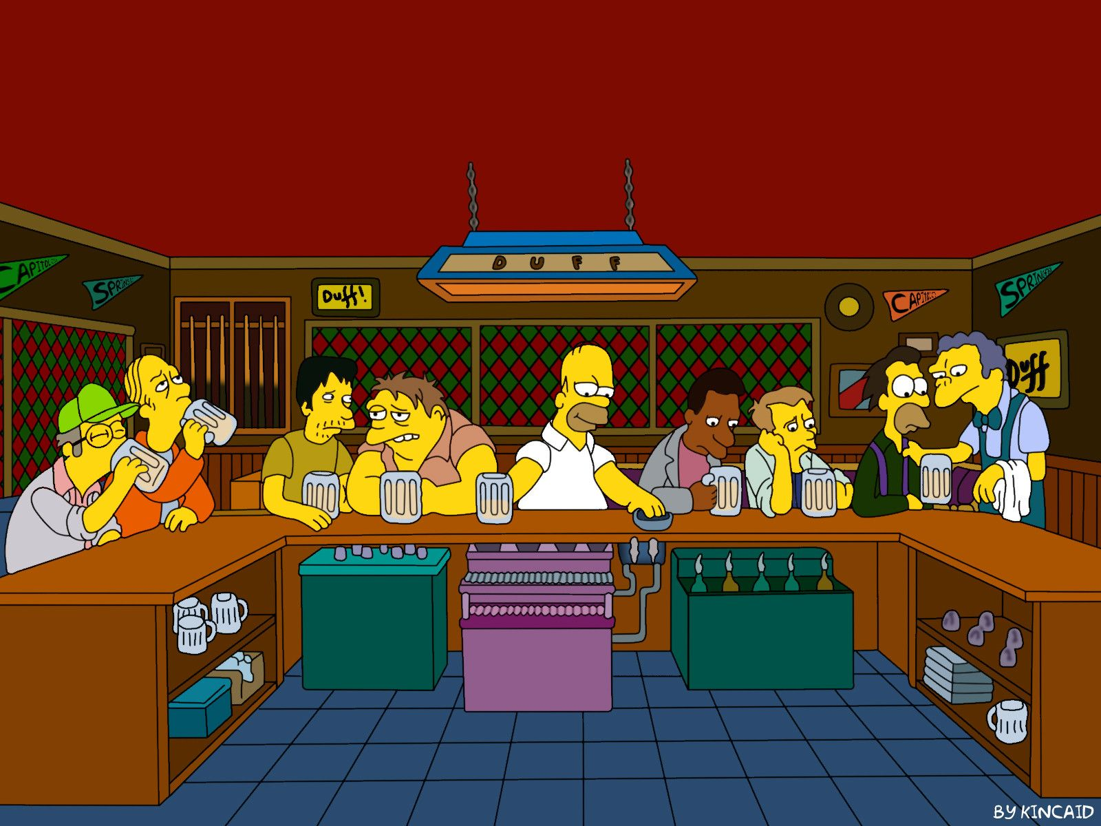The Last Supper The Simpsons Wallpaper - 1600X1200 - 100720