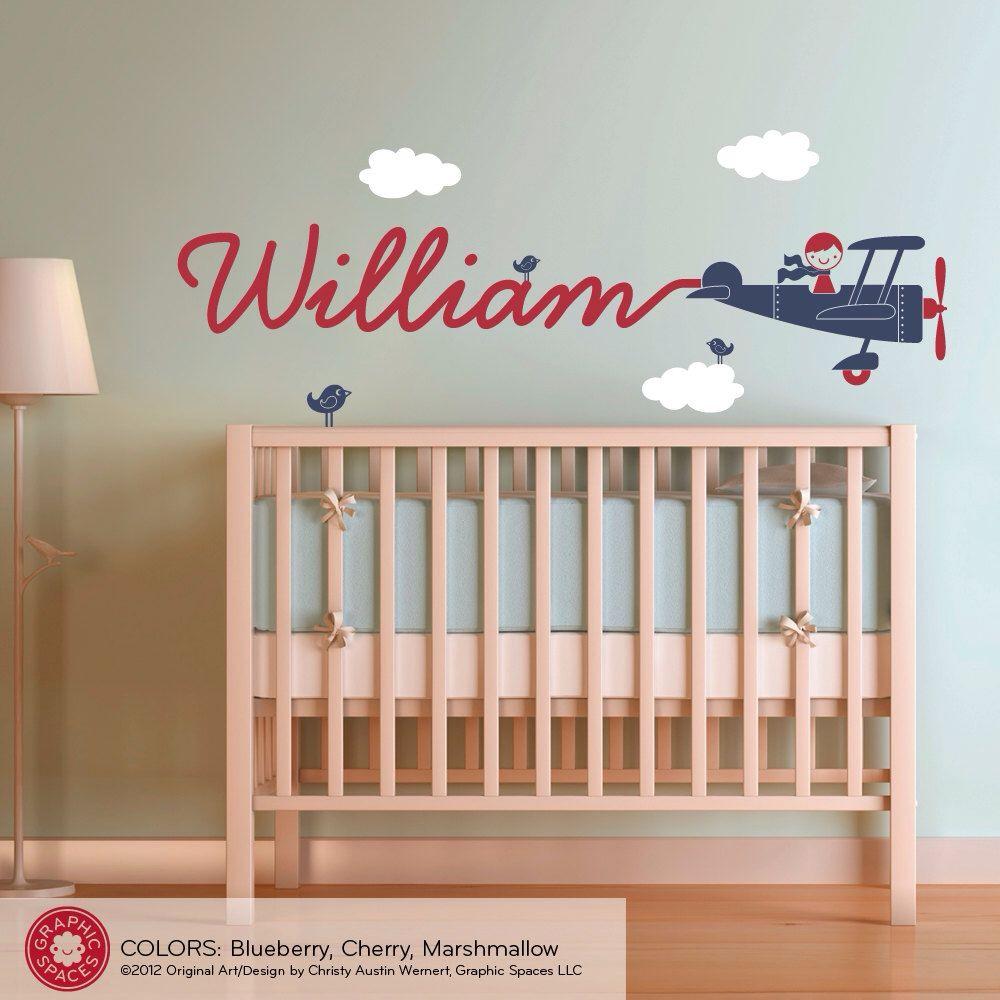 Little Boy Bedroom Airplane Decor I