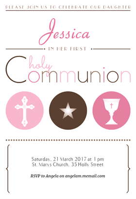 modern graphics girl printable invitation template customize add text and photos print download send online or order printed