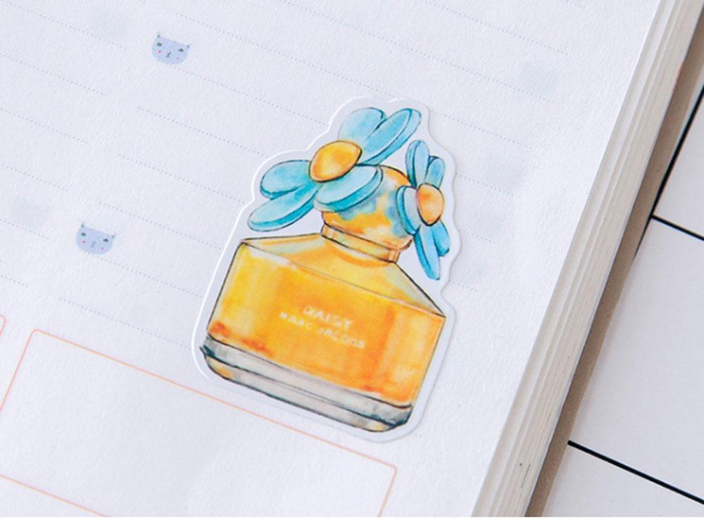 Perfume Watercolor Sticker Set 25 Units Diary Decoration