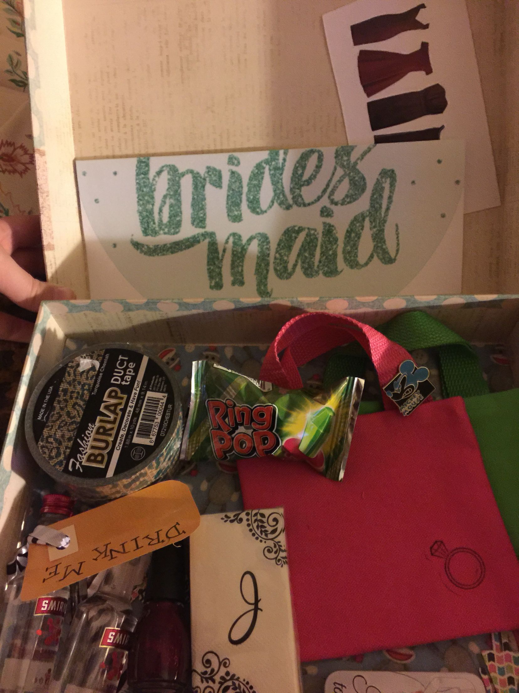 My bridesmaid box I made for my best friend. #bestfriend#bridesmaidbox#box#wedding