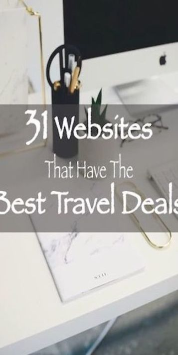 31 websites that have the best travel deals. #travel #traveldeals
