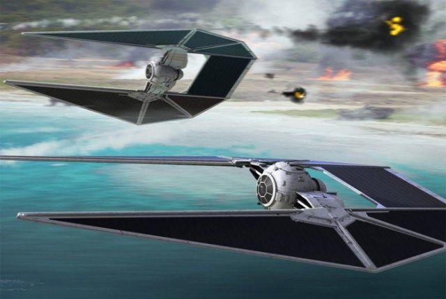 TIE Strikers - atmospheric fighter craft.