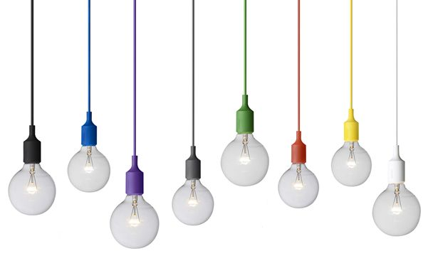 Muuto E27 Hanglamp : De muuto e is een prachtig ontworpen hanglamp met een gekleurde