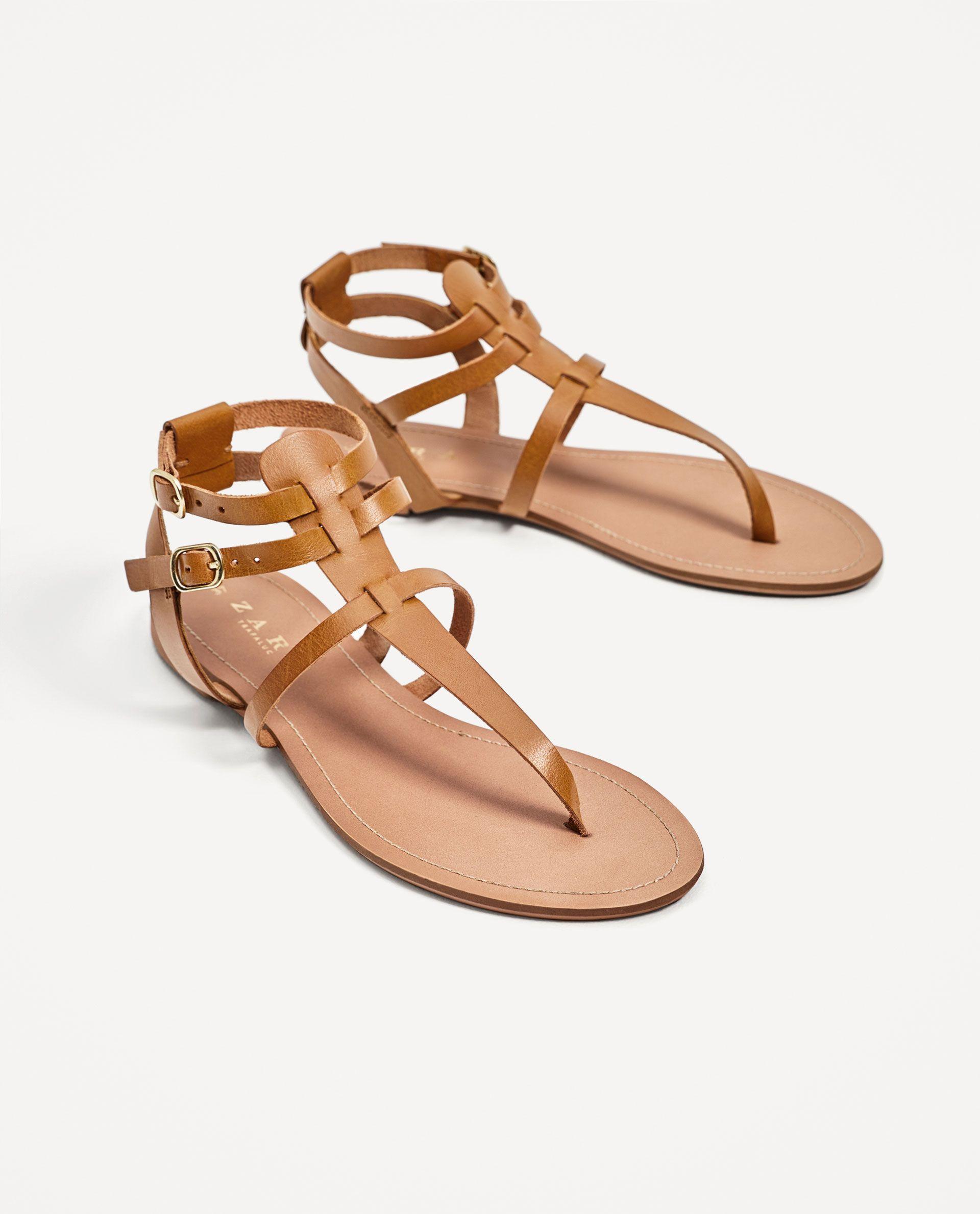 Sandalia Plana Piel Fashion Sandalias Planas Zapatos