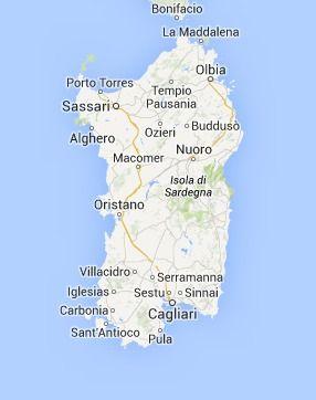 Sardinia Map Sardinia Map Italy