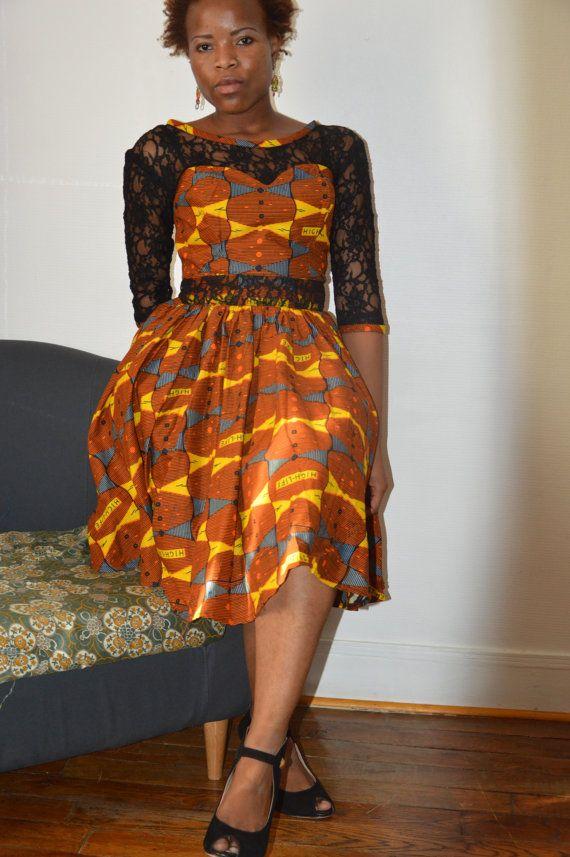 robe ann 50 en pagne robes pinterest pagne ivoirien et robes. Black Bedroom Furniture Sets. Home Design Ideas