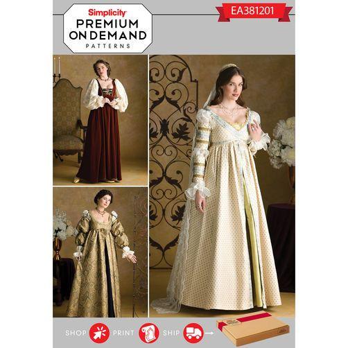 Simp 3812 Misses Renaissance Ever After Pattern