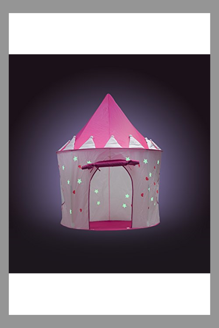 Fox Print Princess Castle Play Tent With Glow In The Dark
