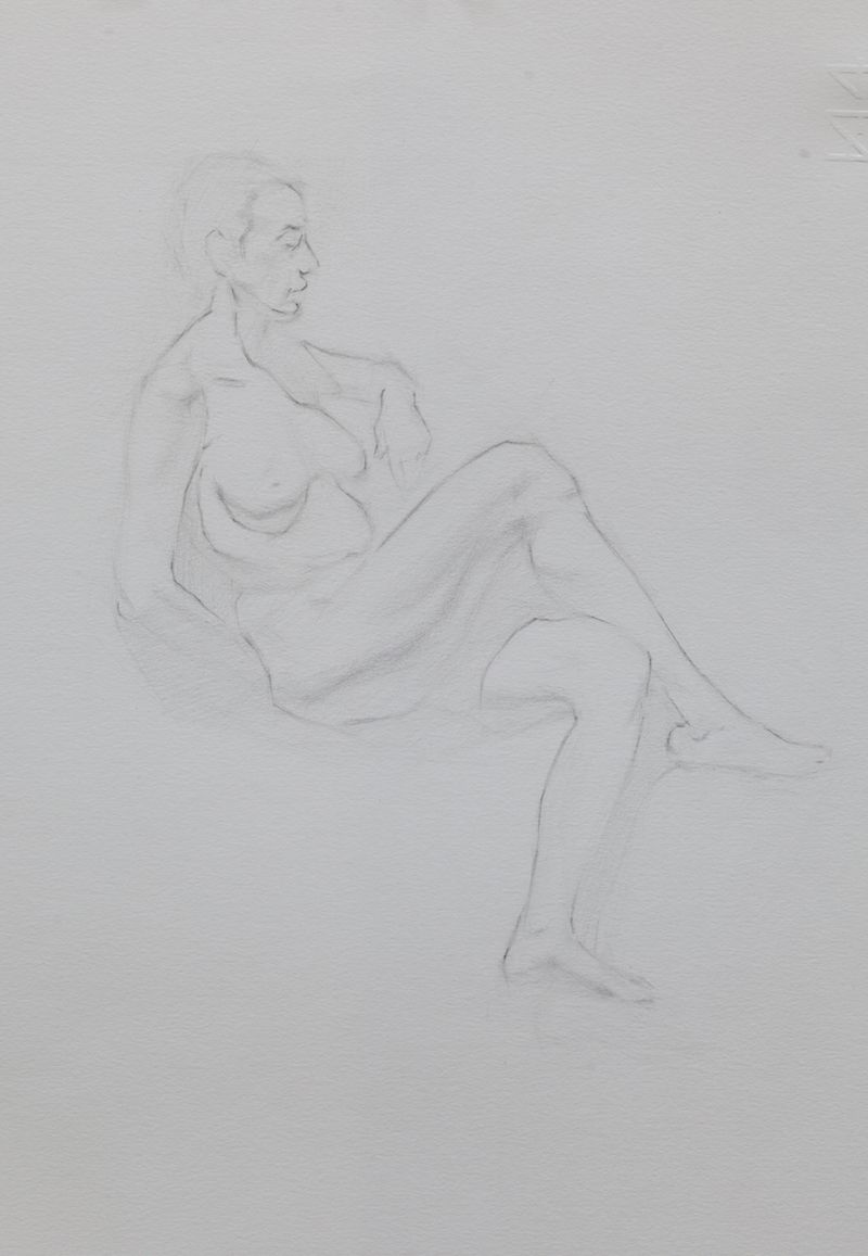 Mathias rader third year student pencil study florence academy of art http