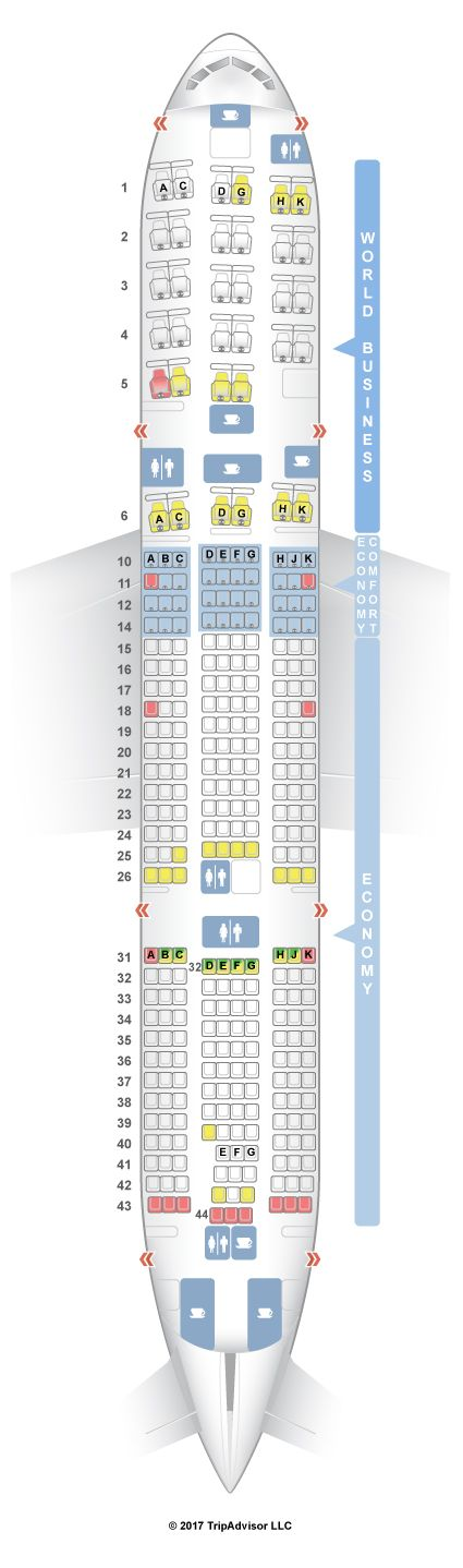 Seatguru Seat Map Klm Boeing 777 200er 772 Seatguru Norwegian Air Malaysia Airlines