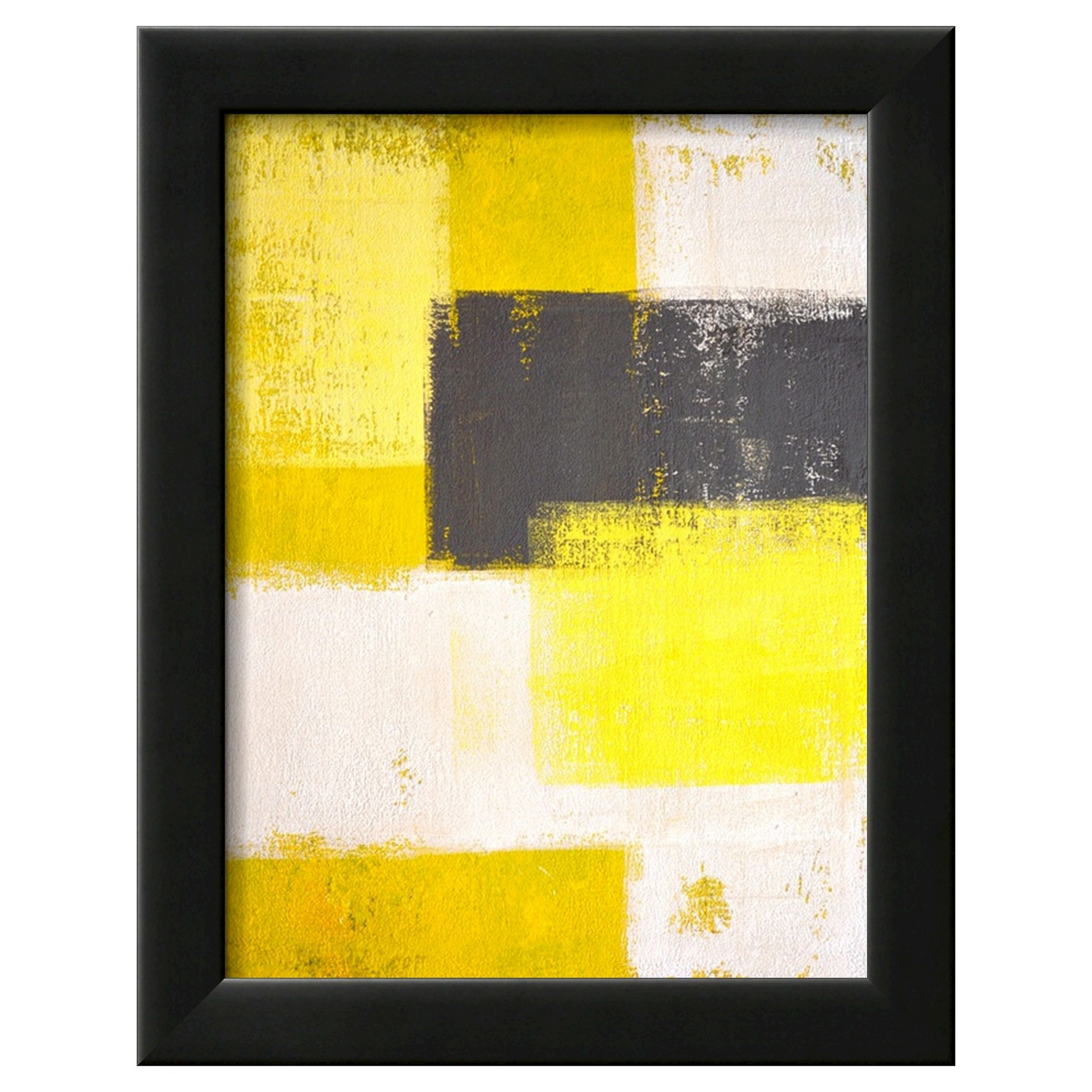Art.com Framed Wall Poster Print Gray And Abstract - Yellow, Yellow ...
