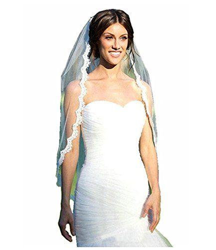 1174b0c265 Macria Womens Elegent Lace Appliques Wedding Veil With Comb White     Check  this awesome. Velos De NoviaVelos De BodaVestidos De NoviaApliques ...
