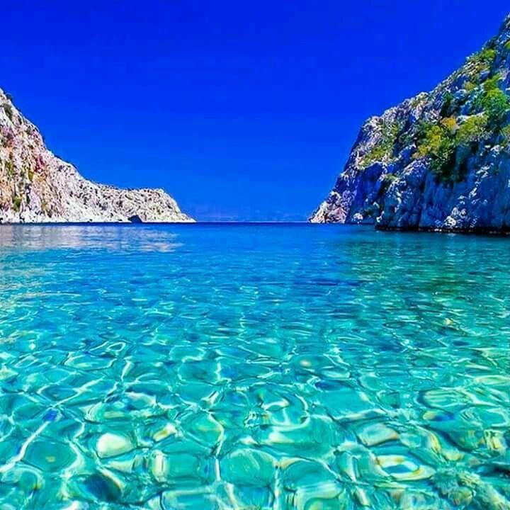 Strand Auf Der Insel Kalymnos Griechenland Schöne Orte
