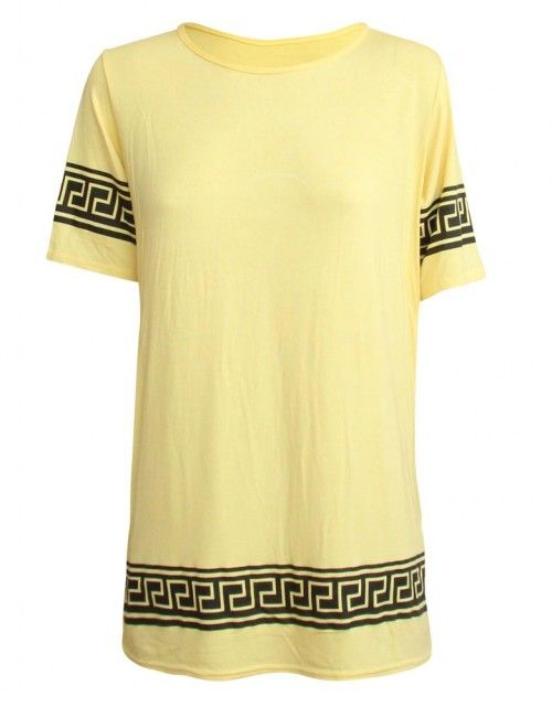 Yellow Aztec Celebrity Inspired By Vicky Pattison T-Shirt