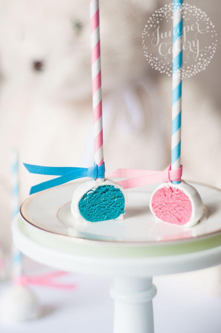 Craftsy Com Express Your Creativity Baby Reveal Cupcakes Gender Reveal Cake Pops Gender Reveal Cake