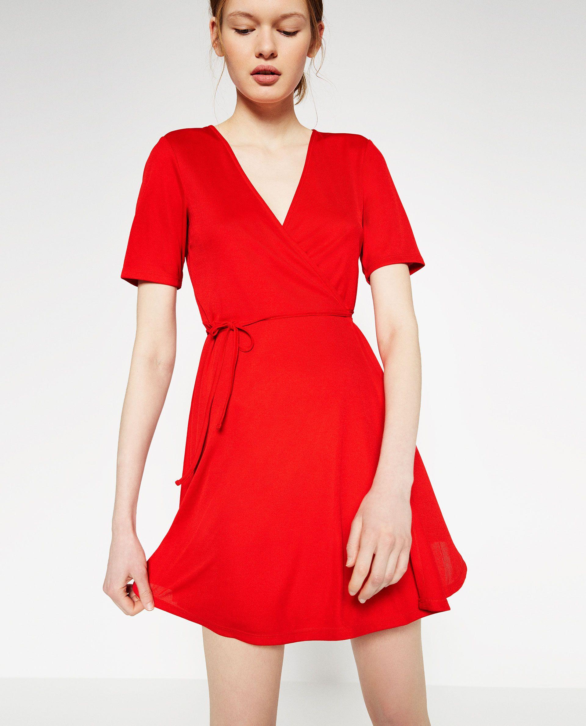 ffdbe0d244 Vestido cruzado (vermelho)  ZARA TRF (15