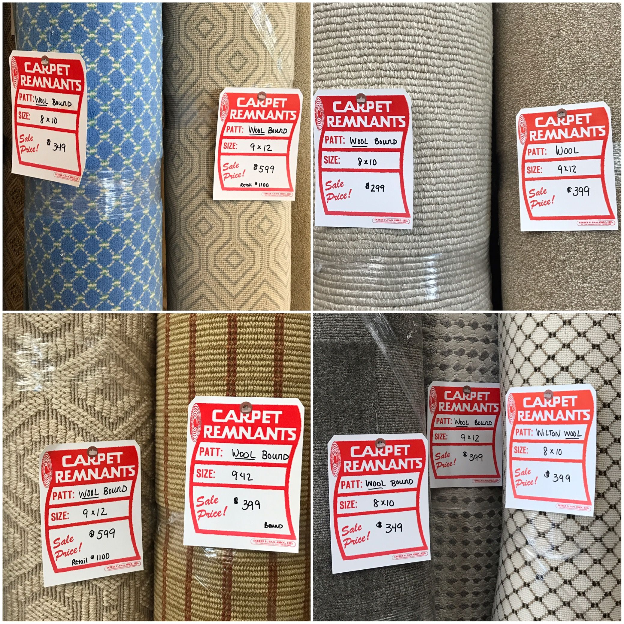 Just arrived! Bound wool area rugs, 8x10 & 9x12 Carpet