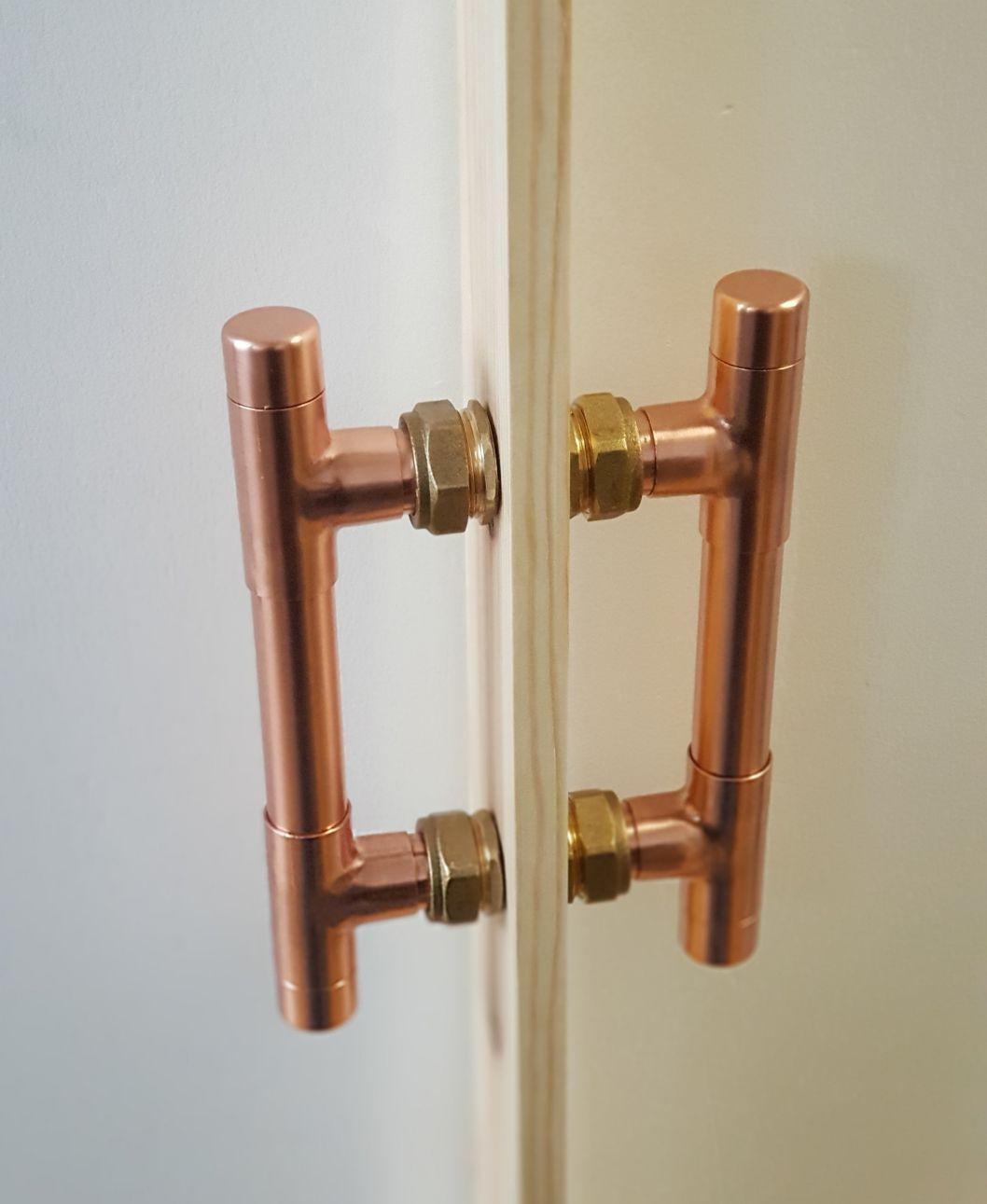 Copper Door Handle | Copper Front Door Handle | Entrance doors ...