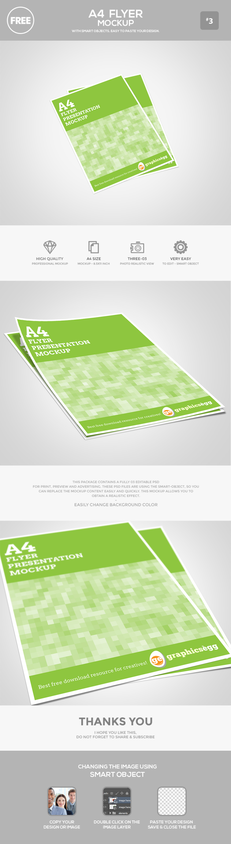 Free A4 Flyer Mockup Psd Graphicsegg Flyer Mockup Psd Flyer Mockup Flyer