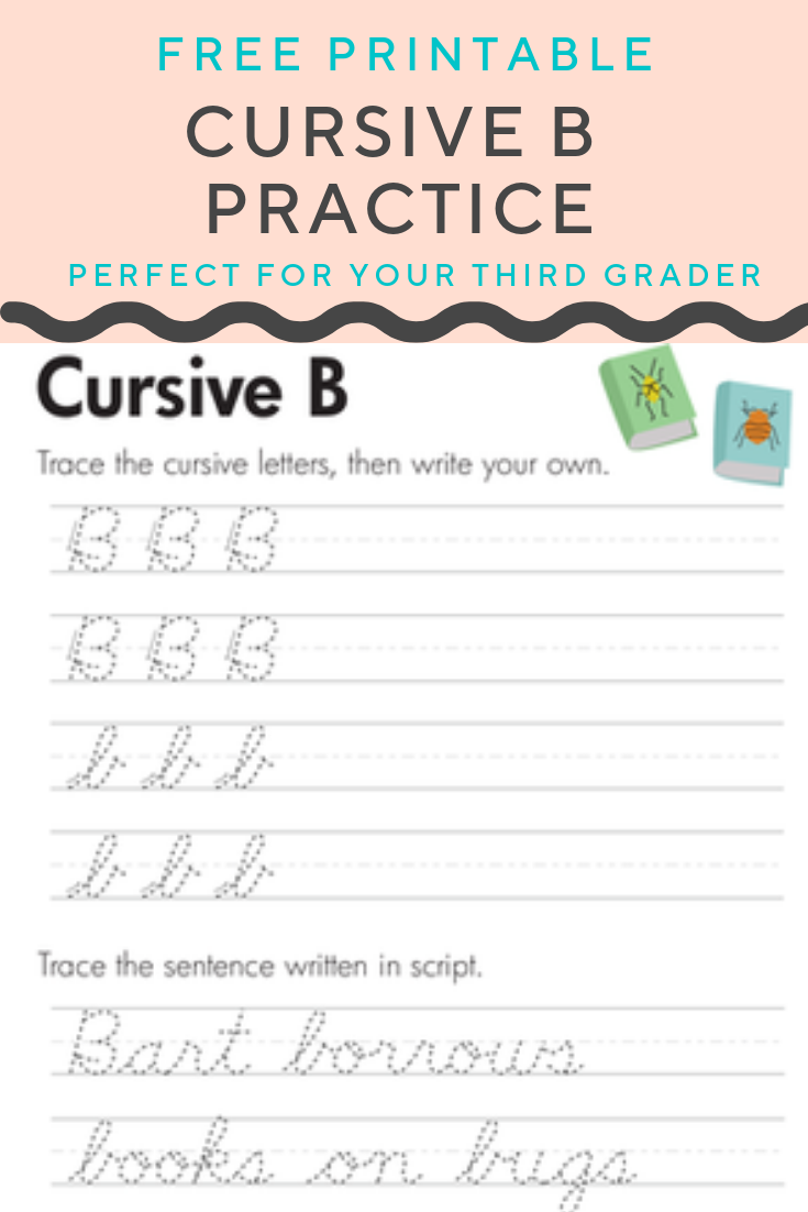 Free Cursive B Worksheet For Kids Worksheet Education Com Cursive B Cursive Practice Elementary Worksheets [ 1102 x 735 Pixel ]