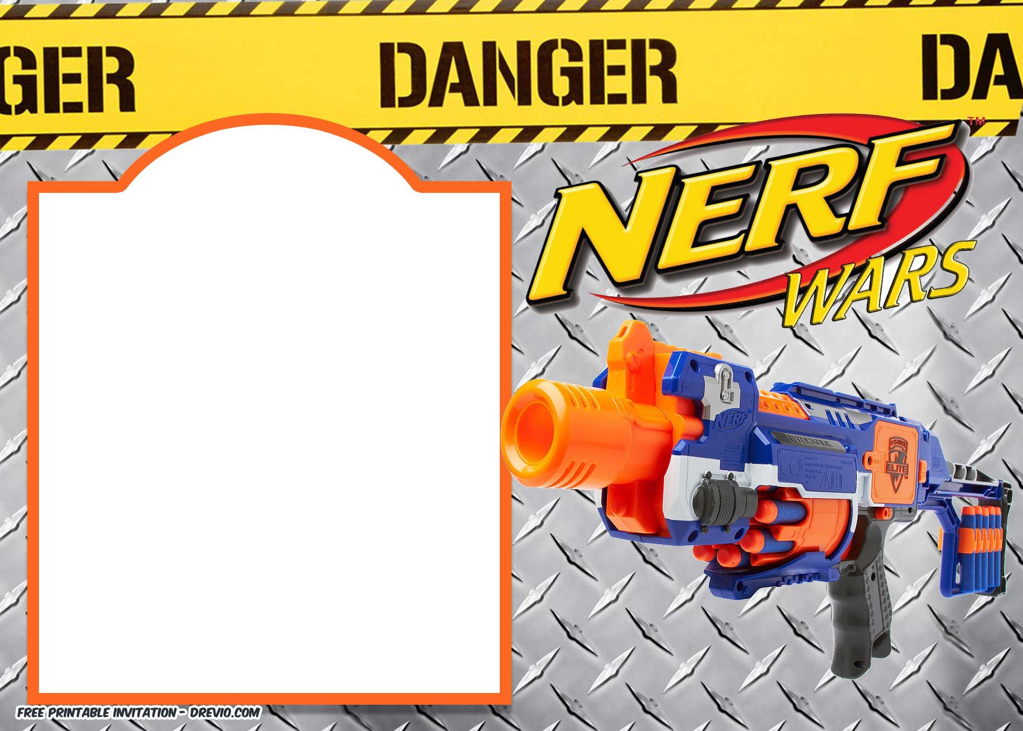 Nerf Gun Party Invitation