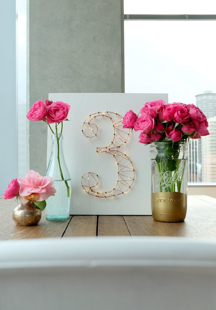 Marvelous DIY STARRY LIGHT WEDDING TABLE NUMBERS OR WALL ART