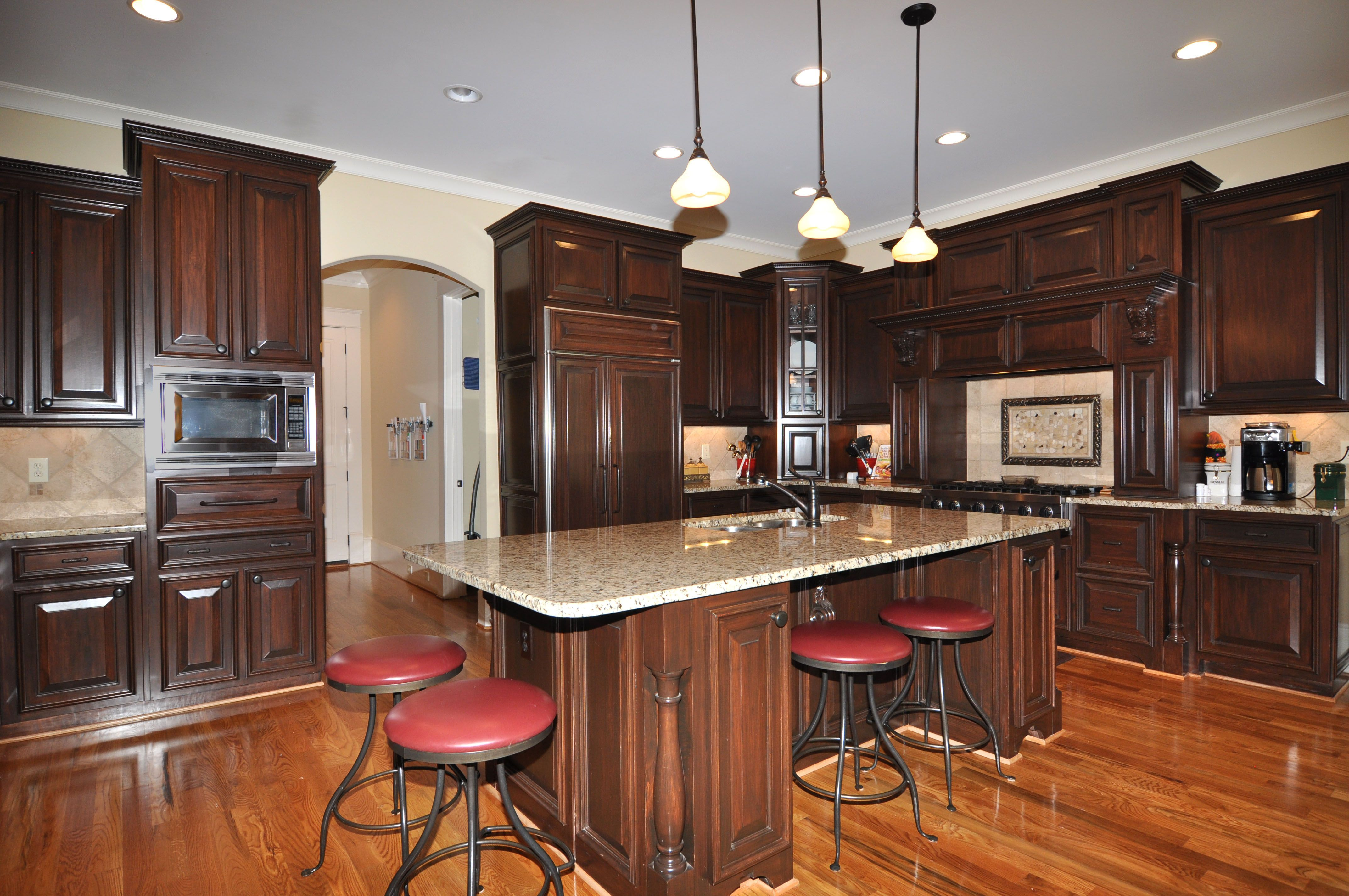 features of this custom home include an open floor plan gourmet kitchen and incredible finishes on kitchen remodel floor id=78243