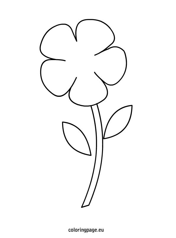 Flower Flower Coloring Pages Coloring Pages Flower Stencil