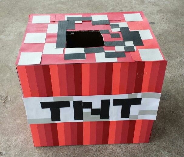 How To Decorate A Valentine Box Amusing Mine Craft Valentine Box  School Stuff  Pinterest  Box Craft And Inspiration