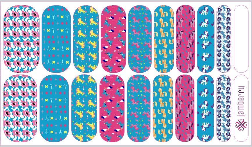 Jamberry Nail Art Studio NAS MLP My Little Pony nail wraps. Order ...