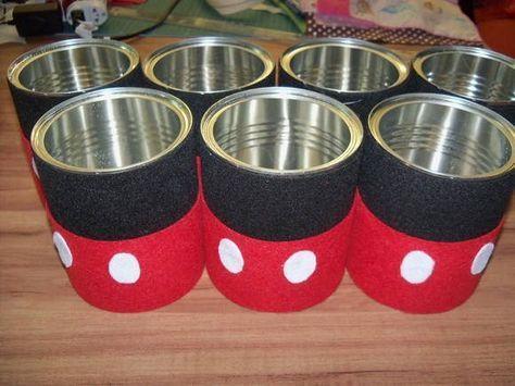 envases mickey centros de mesa - Buscar con Google #mickeymousebirthdaypartyideas1st