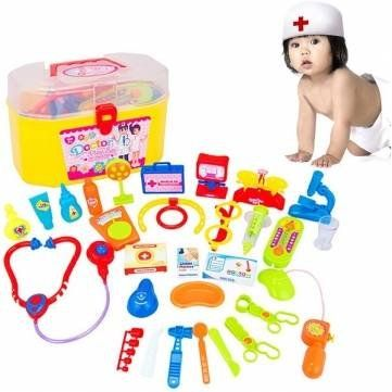 30Pcs Kids Doctor Nurse Medical Role Play Case Baby Kit Educational Toy Set >>> You can find more details by visiting the image link.