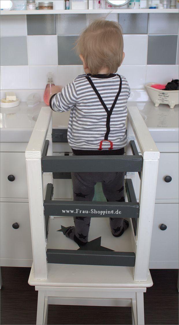 ikea hack unser selbst gebauter learning tower lernturm frau shopping playrooms and kid 39 s. Black Bedroom Furniture Sets. Home Design Ideas