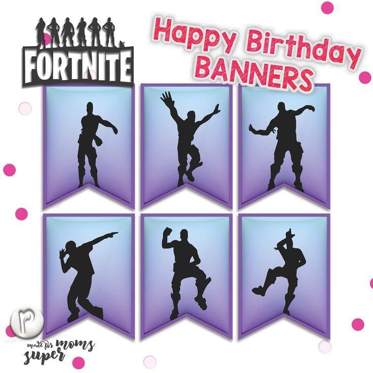 fortnite happy birthday banners  happy birthday cards