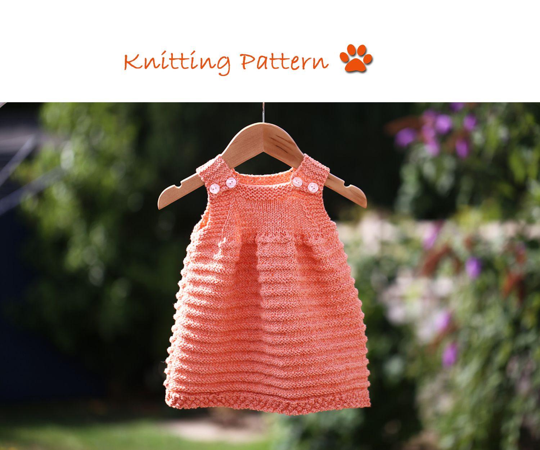 f0619813df22 Easy to knit sun dress  knitting  knittingforbaby  knittingpattern   knittingsundress  easytoknit www.pizpaw.co.uk