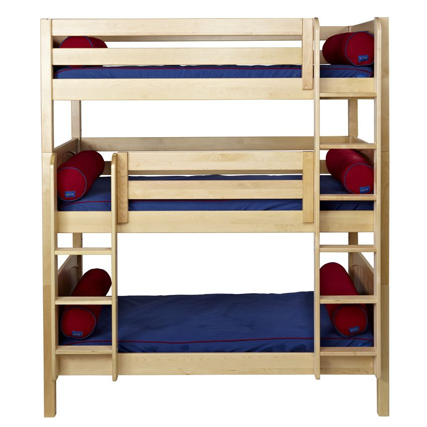 3 Popular Types Of Triple Bunk Beds With Cool Features Simple