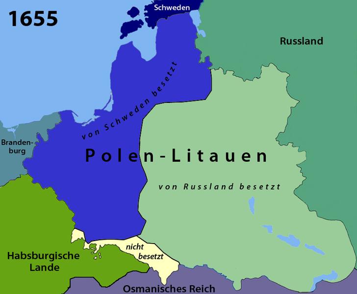 """POTOP - DELUGE ~~~~ ▶ EVERNOTE !! Am blutigsten und verheerendsten war der Polnisch-Schwedische Krieg 1655 - 1660, als """"Schwedische Sintflut"""" bezeichnet, unter Beteiligung des verbündeten, ebenso Protestantischen Brandenburg-Preussen, das kurz danach das bis dahin Polnische Preussen von dem gemeuchelten und abgeschlachteten Polen """"übernahm"""" und sich selbst 1701 zum Königreich kürte mit den für die weitere Geschichte bekannten Folgen !!  WW1+2 ! Preussisch-Deutsche Politik in Rein-""""Kultur""""."""