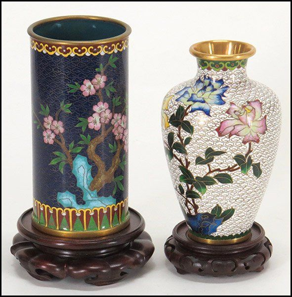 Two Chinese Cloisonne Vases Lot 134 3030 Chinese Cloisonne
