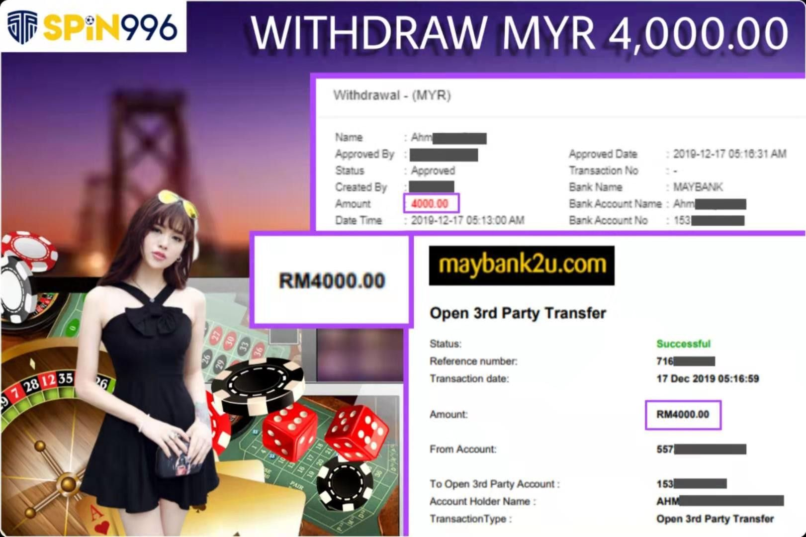 SPIN996 ONLINE CASINO Thank for customer support Live Casino Table Game More Live More…