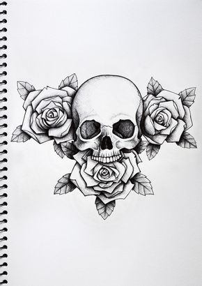 Rose And Skull Tattoo Paper Google Search Tattoo Templates Tattoos Rose Tattoos