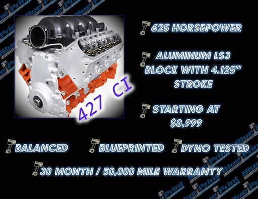 427ci proseries stroker crate engine gm ls style longblock blueprint engines 427ci proseries stroker crate engine gm ls style longblock aluminum heads roller cam late model drop in upgrade malvernweather Gallery