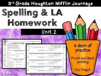 Journeys 3rd grade Homework Unit 2 (Lessons 6-10) | My TpT ...